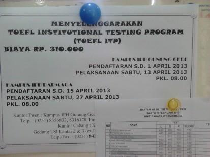 TOEFL ITP April 2013